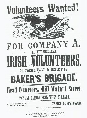 "1861 Recruiting poster for Edward Baker's ""California"" regiment"