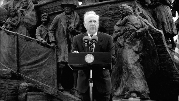 James Coyne is central to the massive bronze sculpture in memory of The Great Hunger.