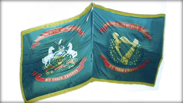 Mirror image of 69th PA flag