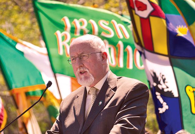 Guest speaker Sligo Sinn Fein Councilor Sean McManus