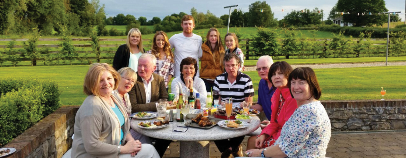 The McDermott family gathering in their hometown of Oldcastle, County Meath.