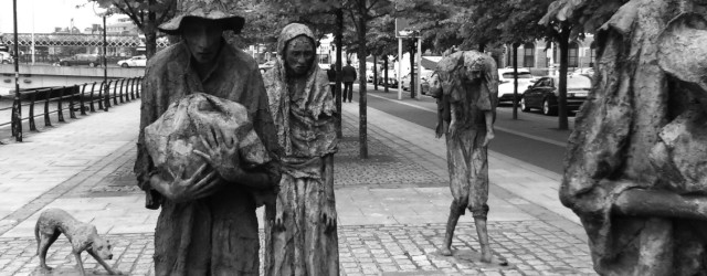 The Famine statues in the Dublin Docklands. Photo by Andrew Diamond