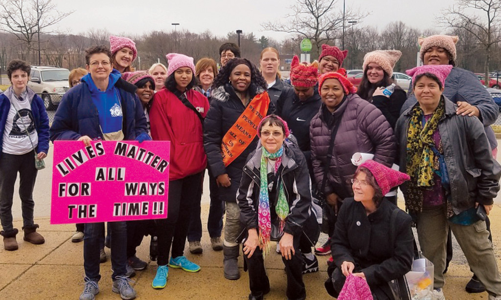 Kerry Bryan in Washington D.C. with her sisters from the YWCA in Pottstown, PA.
