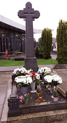 The grave site of Michael Collins