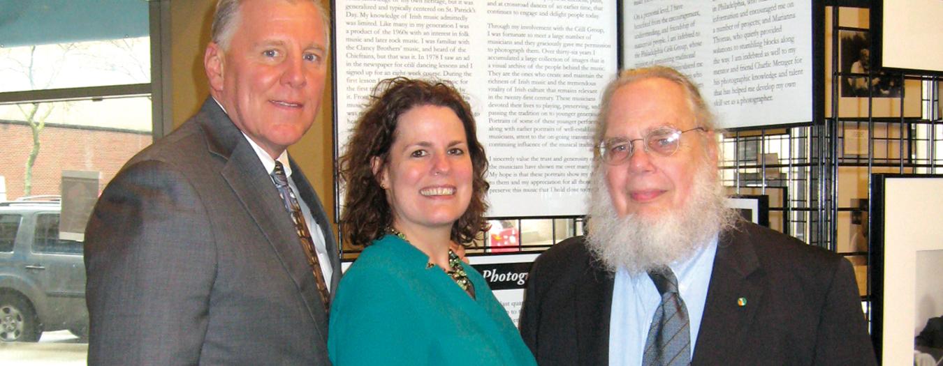 Senator John Blake, D-Lankawanna, Maureen McGuigan, Lackawanna County Deputy Director of Arts and Culture and Robin Hiteshew, photographer