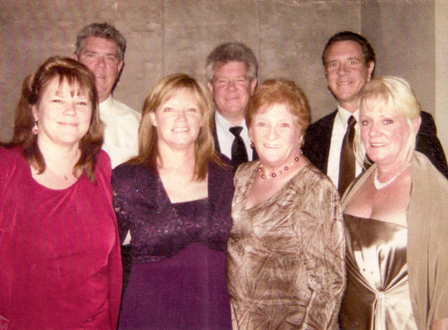 Kathleen Murtaugh and her children: (row 1) Kathy, Helene and Maureen; (row 2) Kevin, Jack and the late Brian.