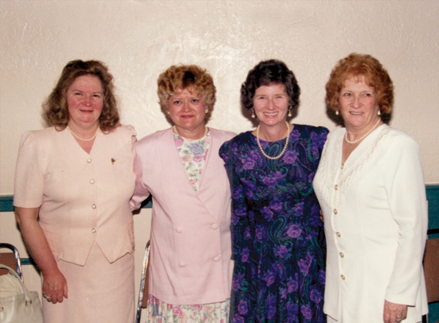 Kathleen Murtaugh (right) and her sisters from left: Margaret Fee, Linda Steiner, and Helene Johnson