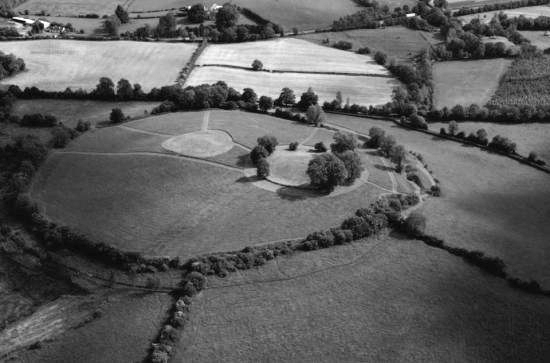 Emain Macha or Navan Fort— now in modern day County Armagh. This mound was an important religious ritual site in pre-Christian Ireland.