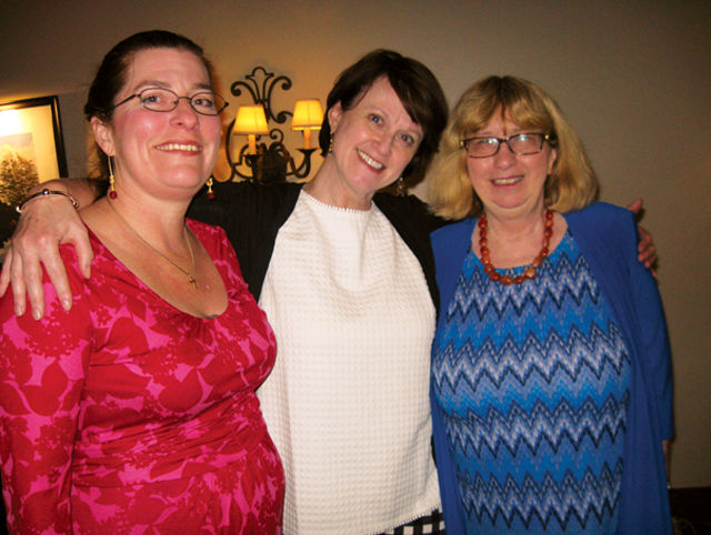 Philadlphia Ceili Group officers Courtney Malley and Anne McNiff are with Marita Krivda Poxon
